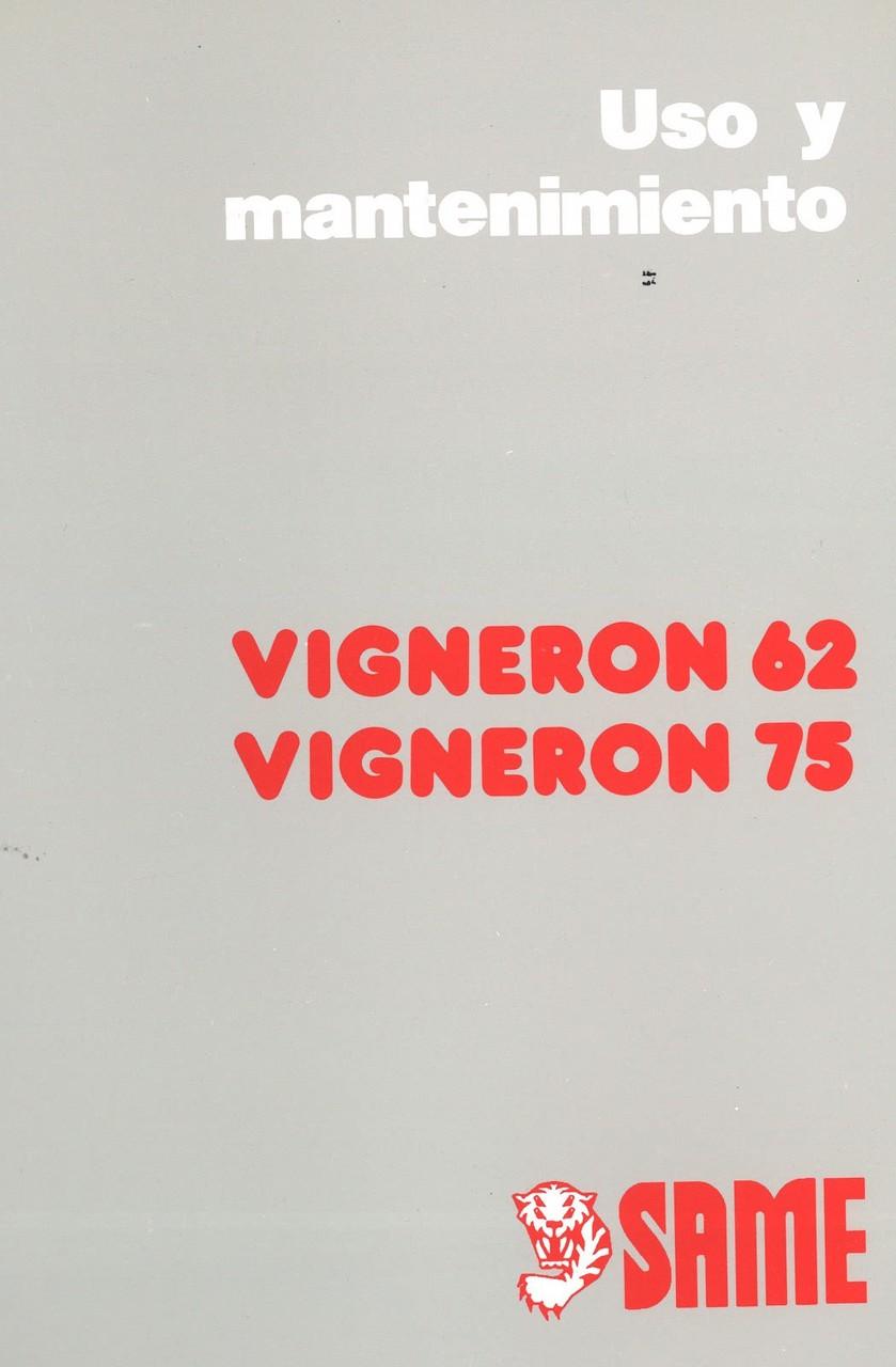 VIGNERON 62 - VIGNERON 75 - Uso y mantenimiento