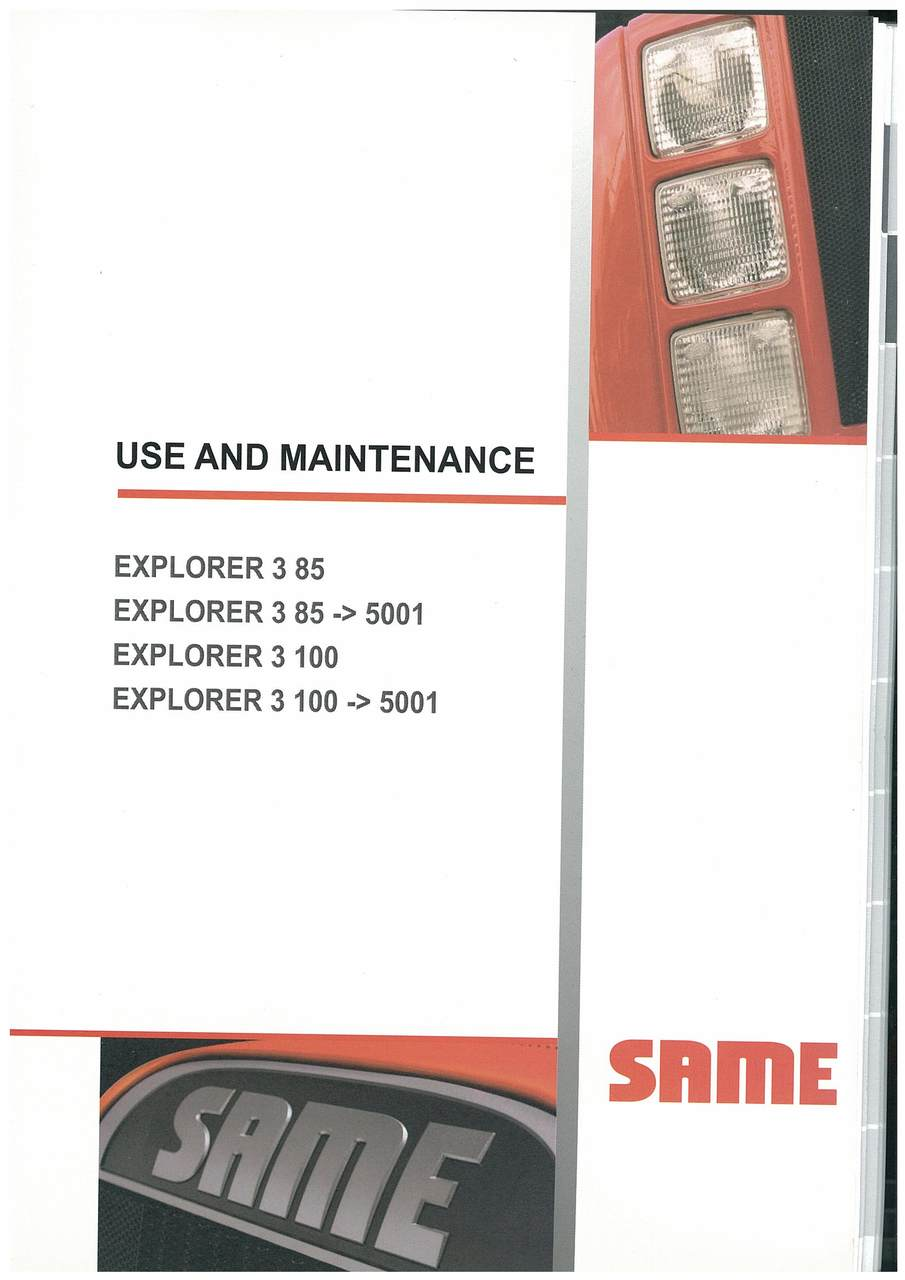 EXPLORER 3 85 100 - Operating and maintenance