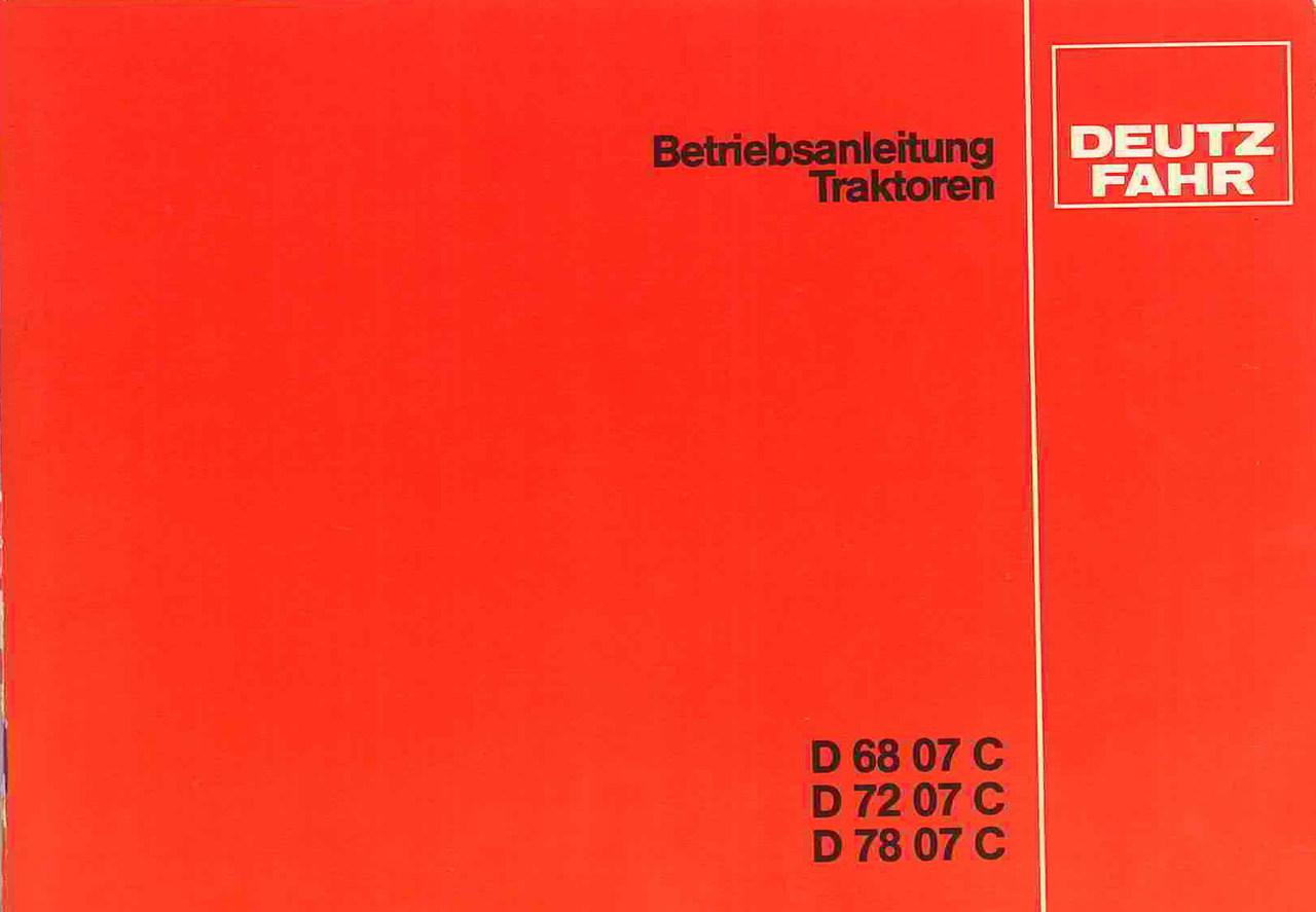 D 68 07 C-72 07 C-78 07 C - Betreibsanleitung