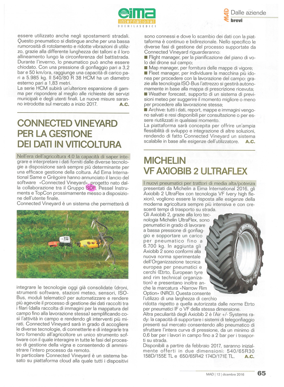 Connected vineyard per la gestione dei dati in viticoltura