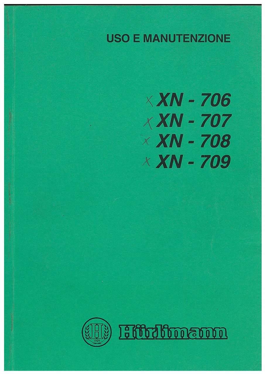 XN 706-707-708-809 - Libretto Uso & Manutenzione