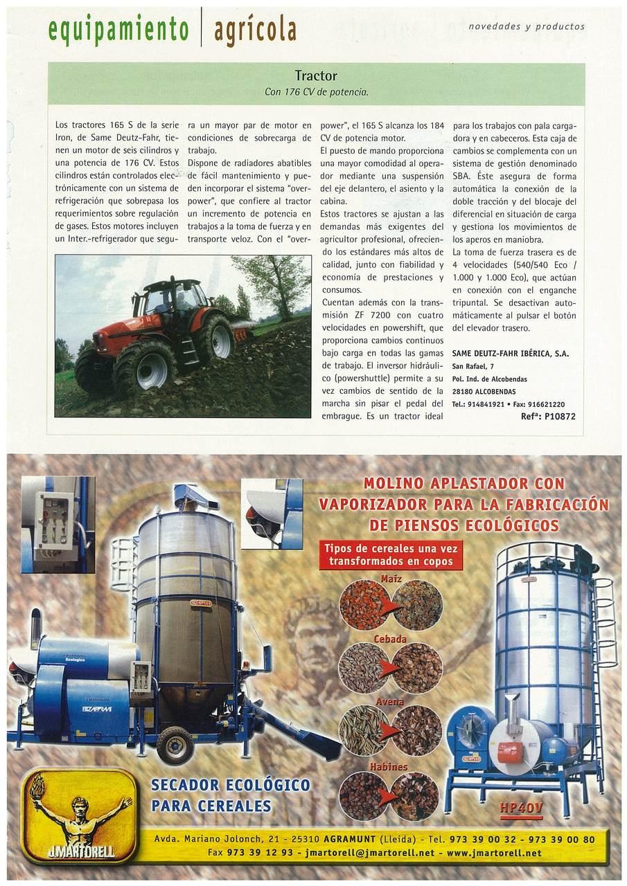 Tractor: Con 176 CV de potencia.