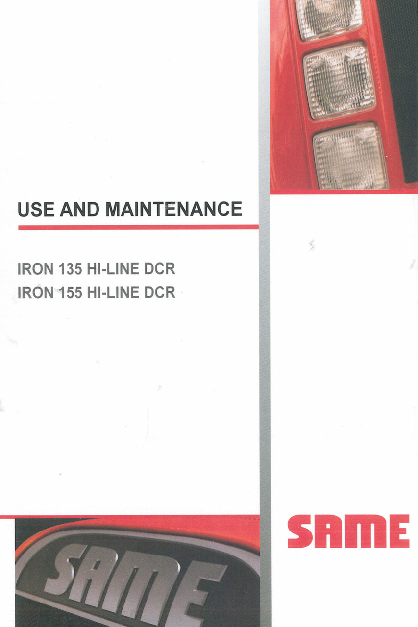 IRON 135 HI-LINE DCR - IRON 155 HI-LINE DCR - Use and maintenance