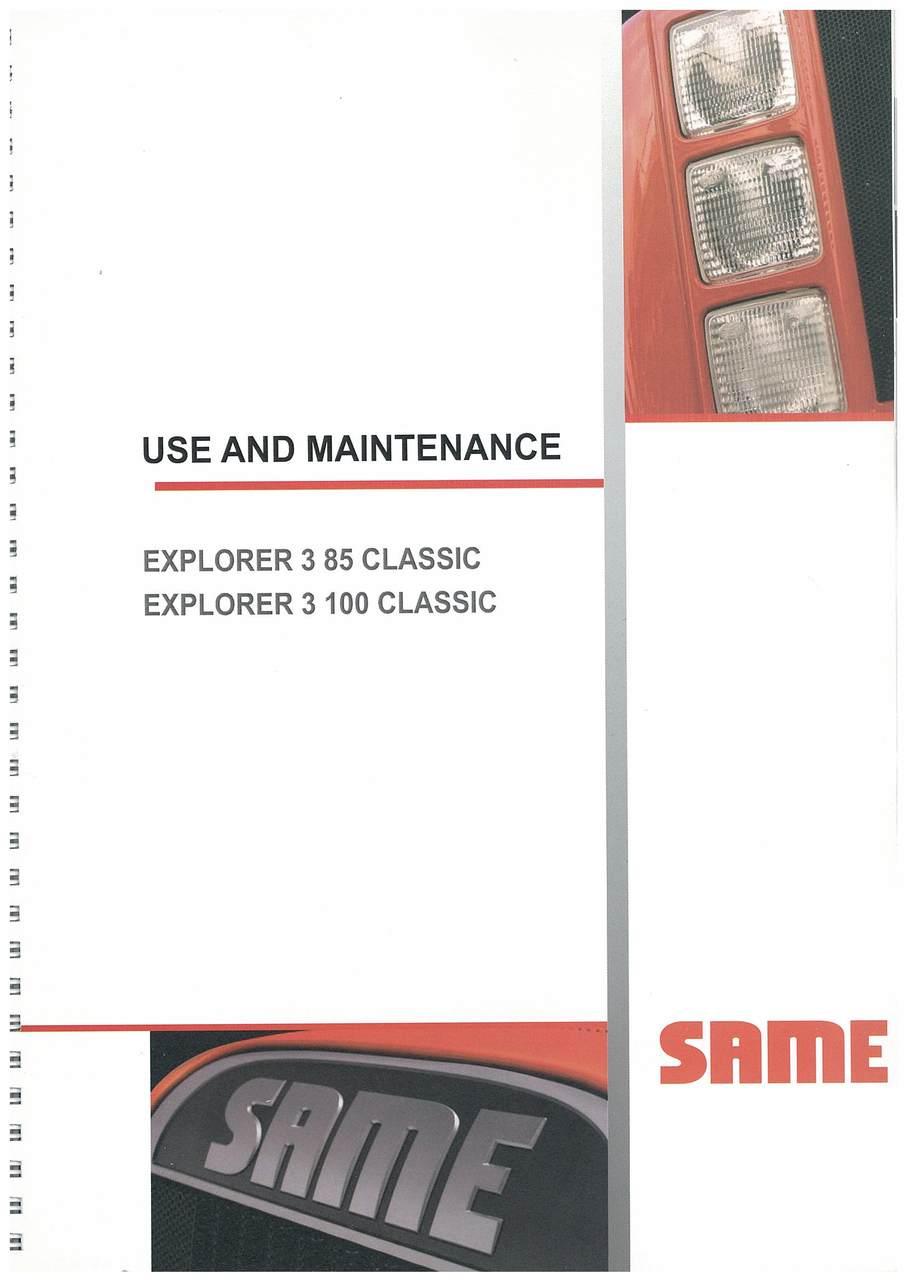 EXPLORER 3 85 100 CLASSIC - Operating and maintenance