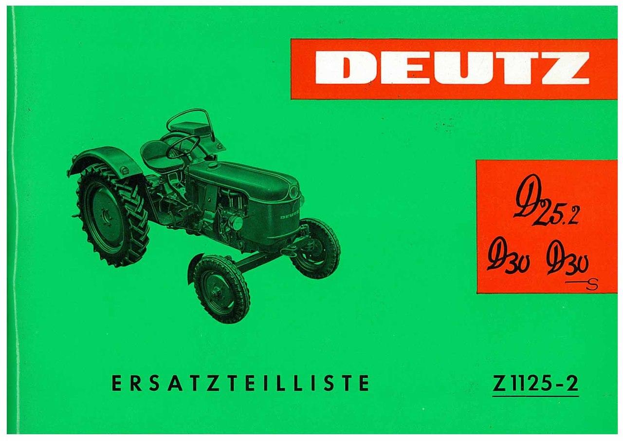 D 25.2-D 30-D30S - Ersatzteilliste / Spare parts list / Liste de pièces de rechange / Lista de repuestos