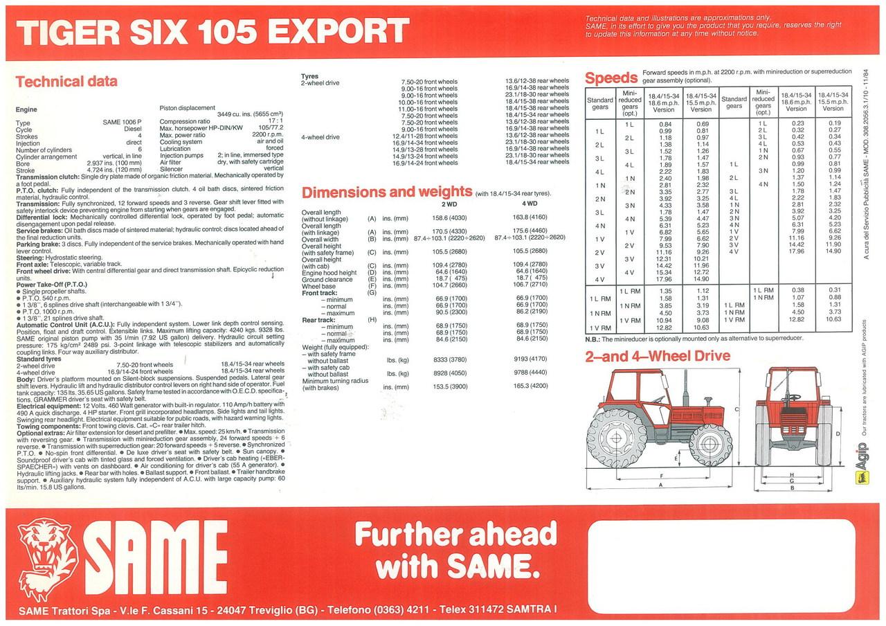 TIGER SIX 105 EXPORT