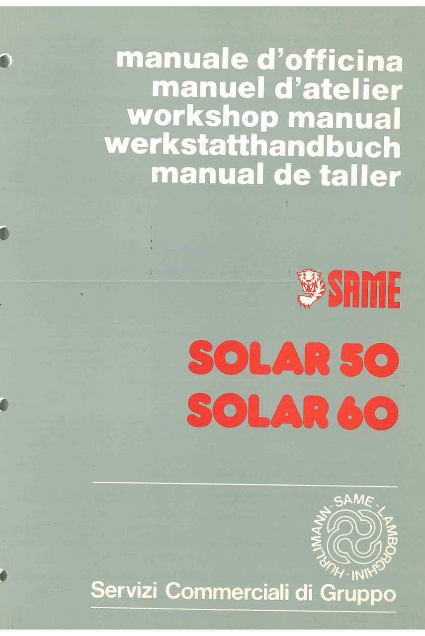 SOLAR 50 - 60 - Manual de Taller