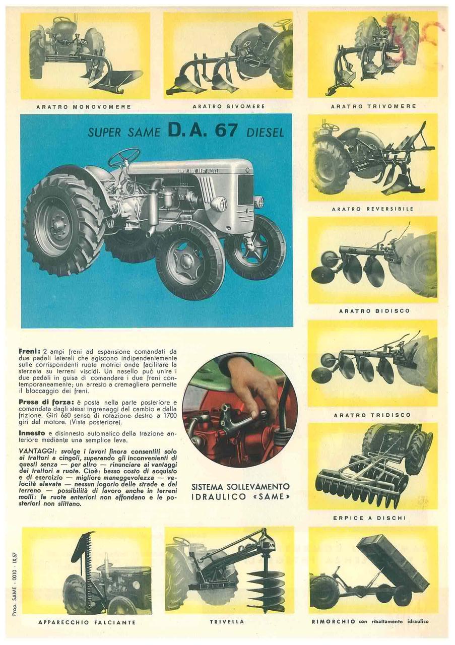 Super Same DA 67 DT a 4 Ruote Motrici
