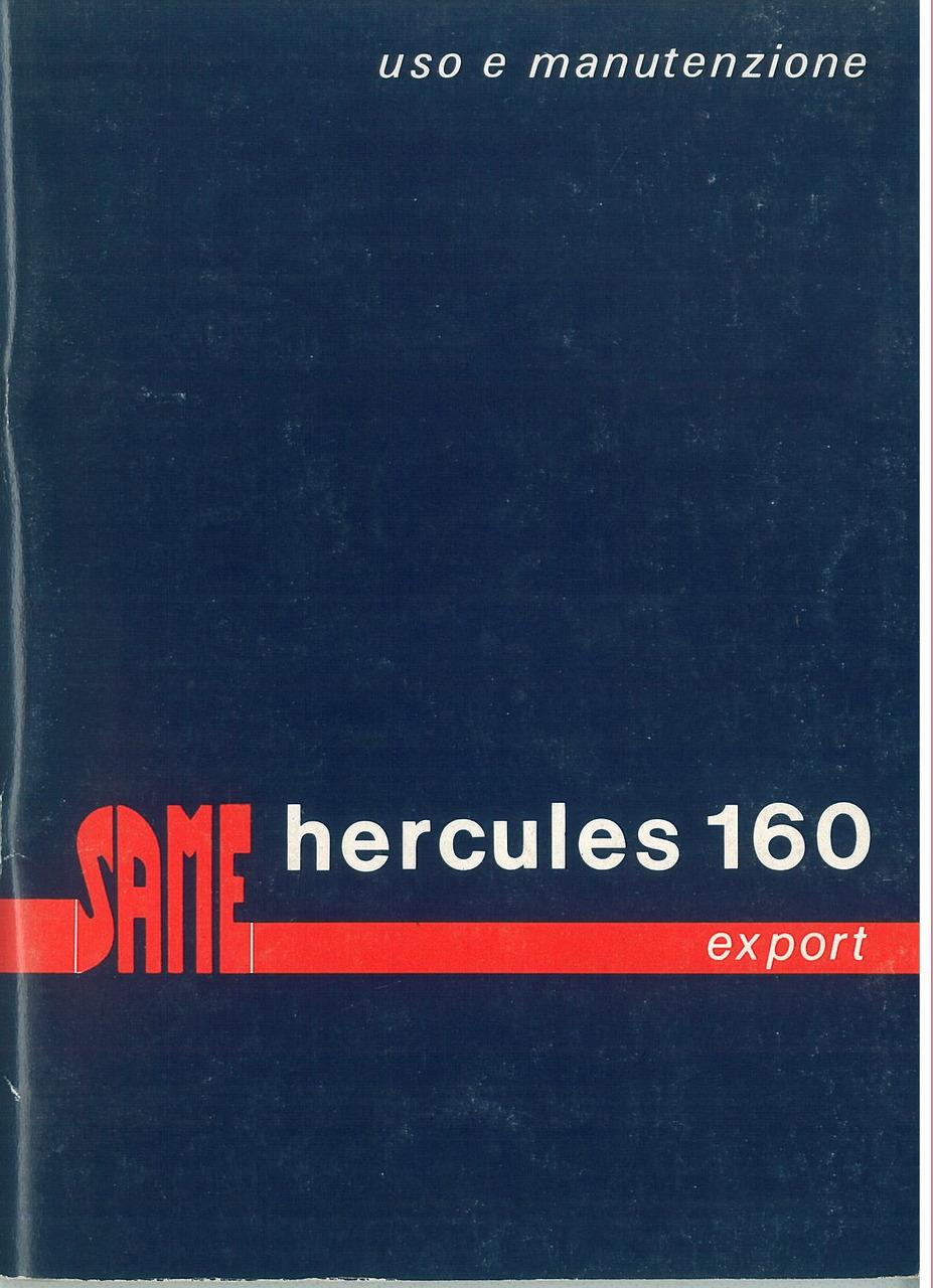 HERCULES 160 Export - Libretto uso & manutenzione