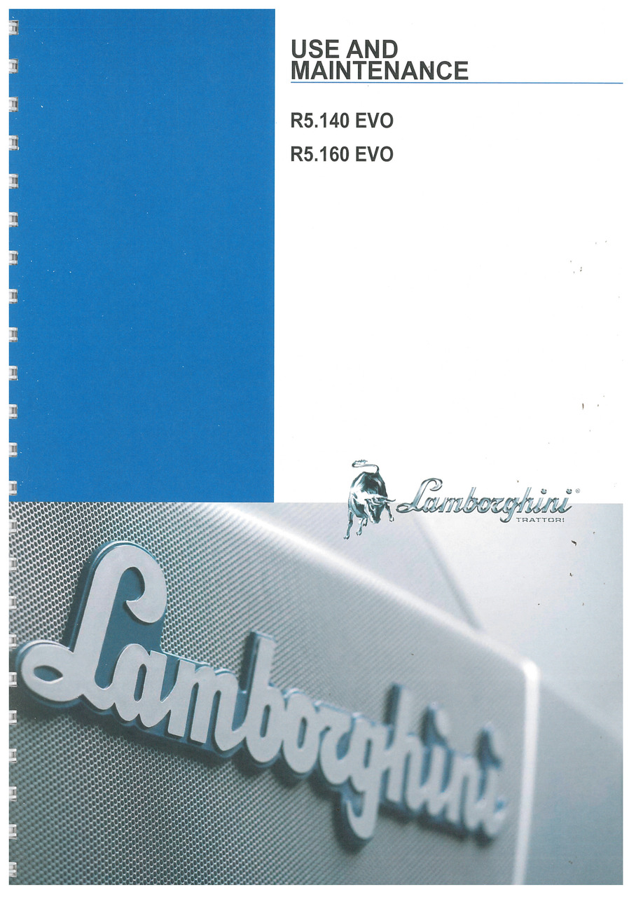 R5. 140-160 EVO - Use and Maintenance