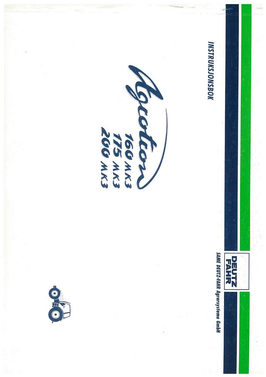 AGROTRON MK3 160-75-200 - Bruk og Vedlikehold
