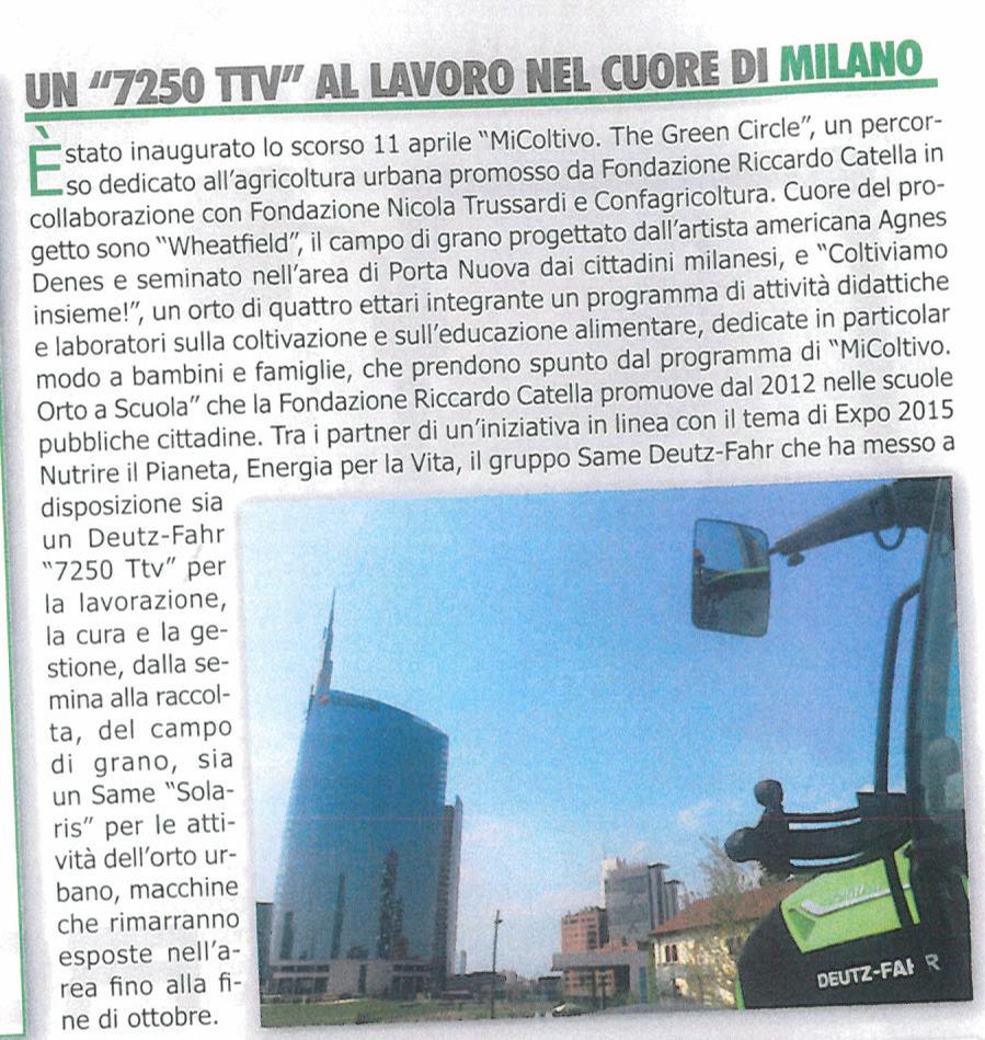 """Un """"7250 TTV"""" al lavoro nel centro di Milano"""
