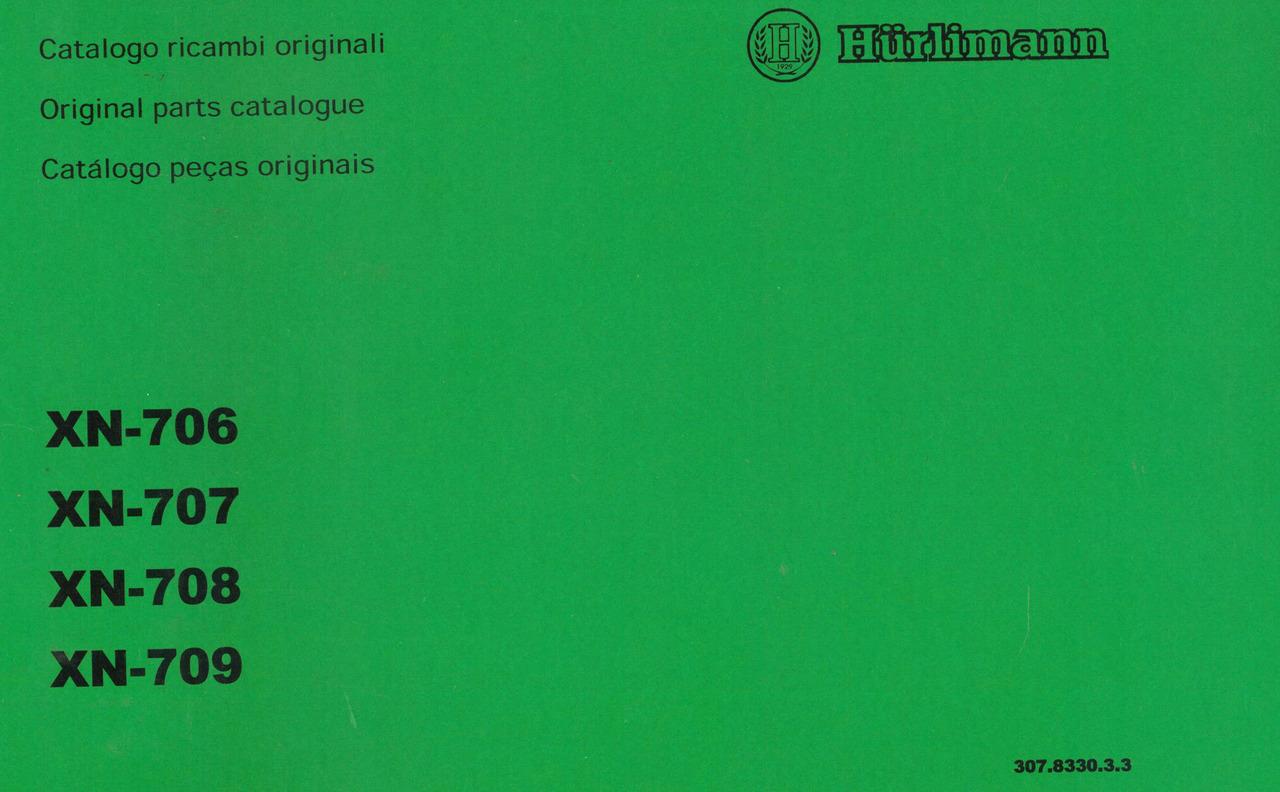 XN 706 - 707 - 708 - 709 - Catalogo ricambi originali / Original parts catalogue / Catalogo peças originais