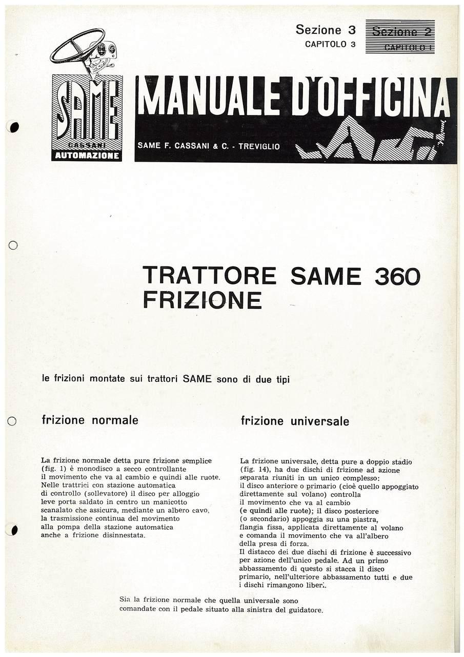 SAME 360 - Manuale di officina