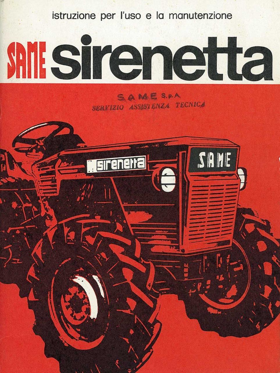 SIRENETTA - Libretto uso & manutenzione
