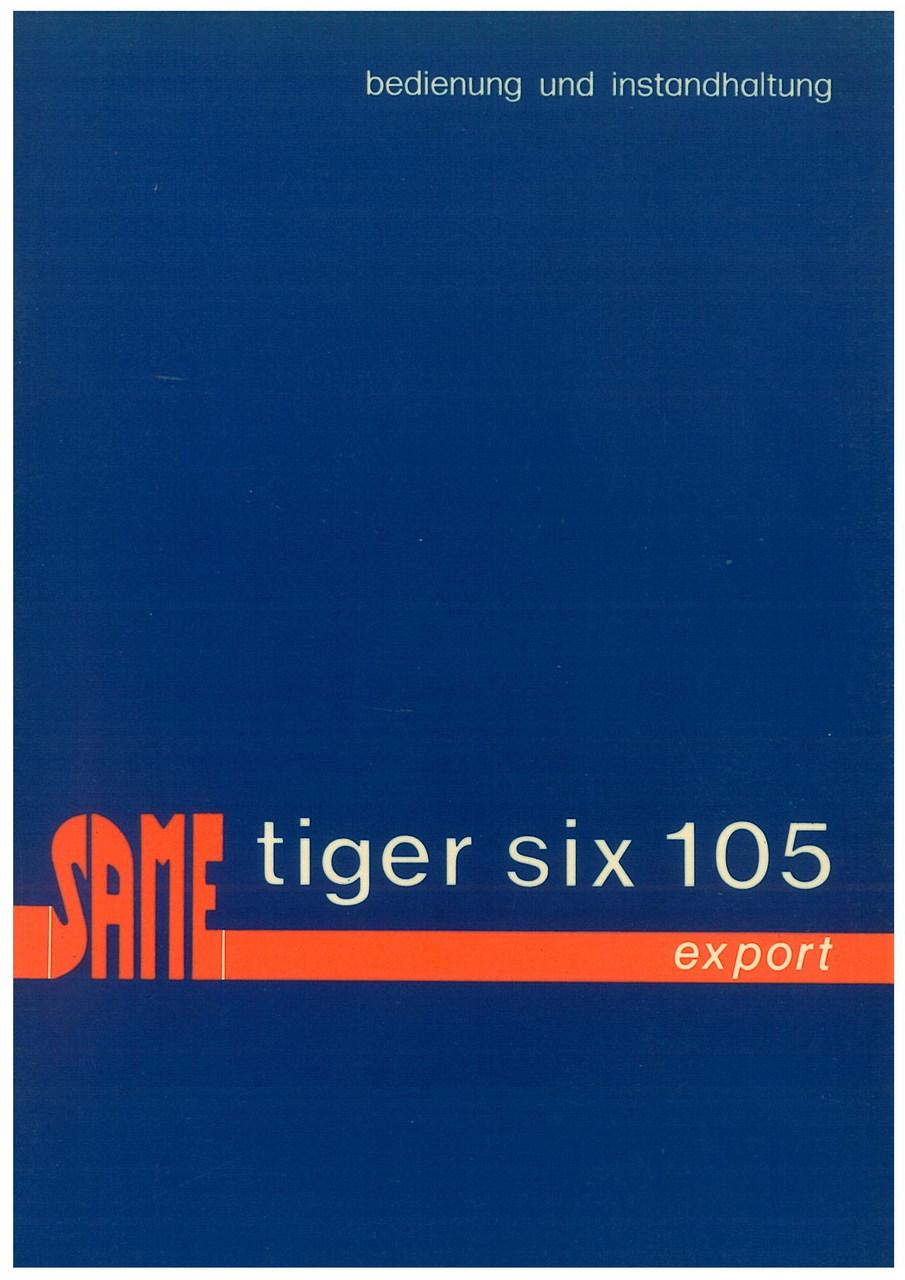 TIGER SIX 105 EXPORT - Bedienung und wartung