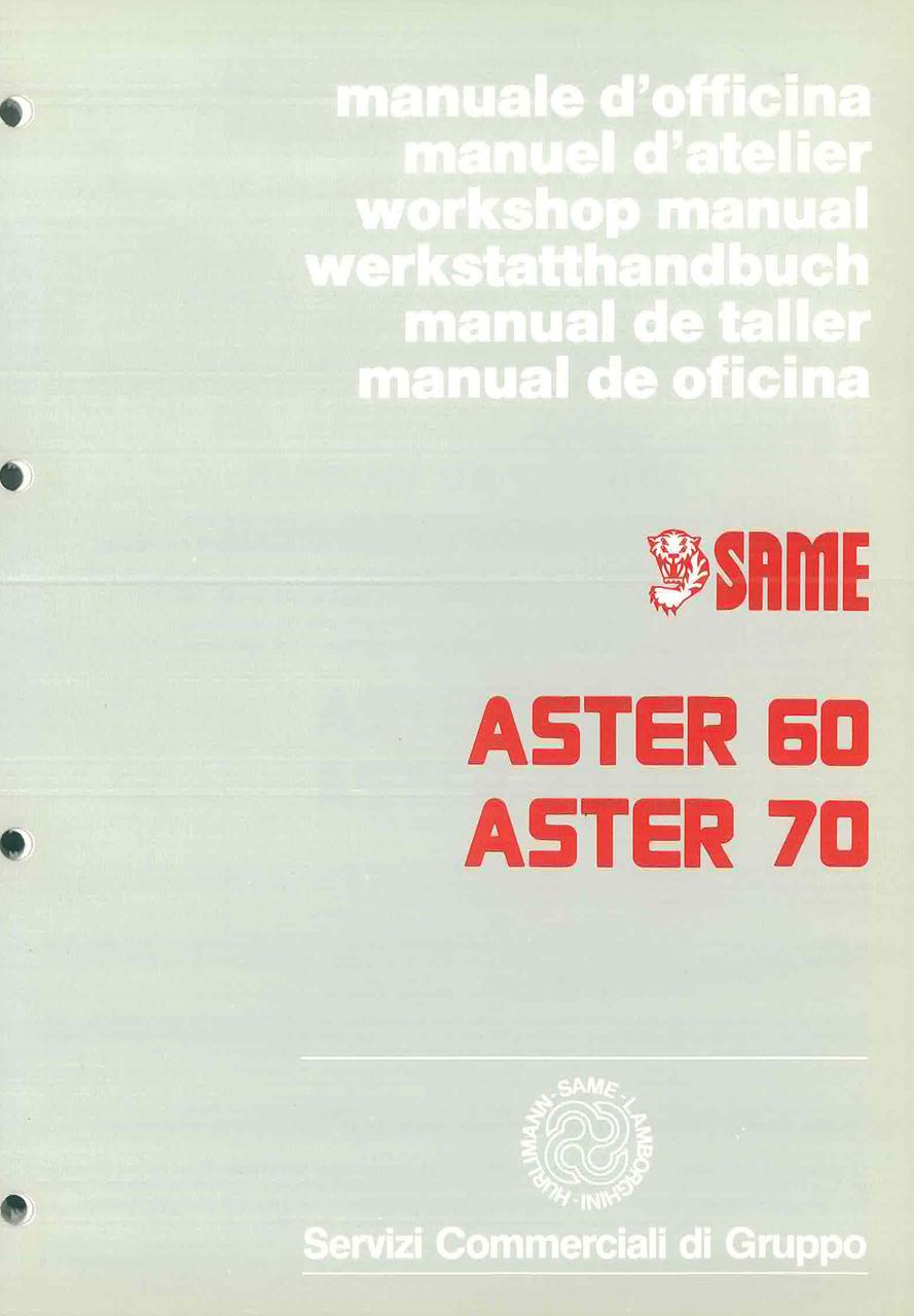 ASTER 60 - 70 - Manual de oficina