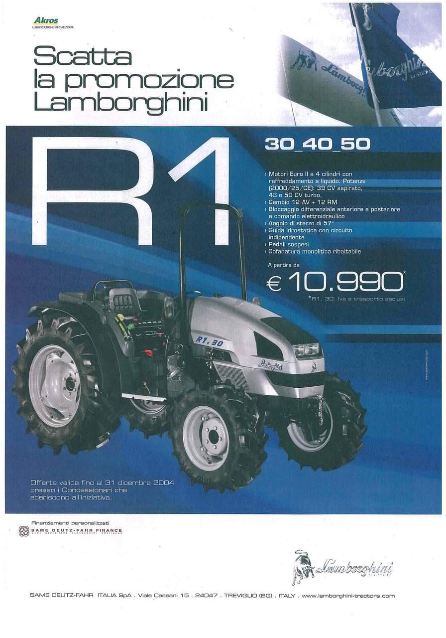 Scatta la promozione Lamborghini - R 1 30 - 40 - 50