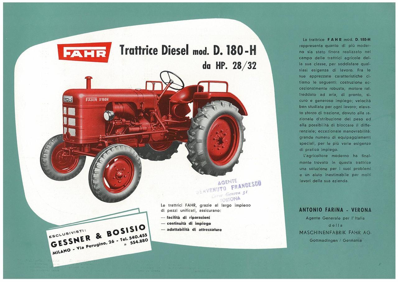 Trattrice diesel: D 180 H