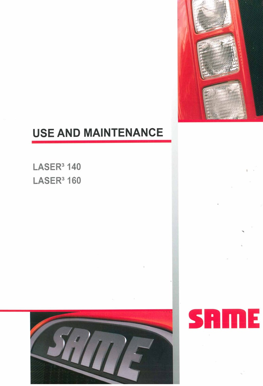 LASER³ 140-160 - Use and Maintenance