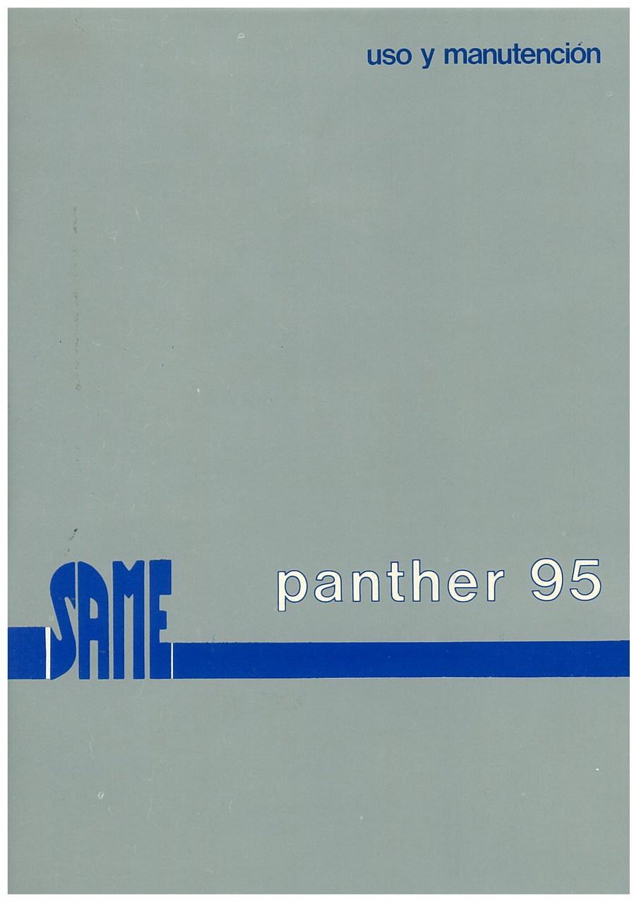 PANTHER 95 - Uso y manutencion