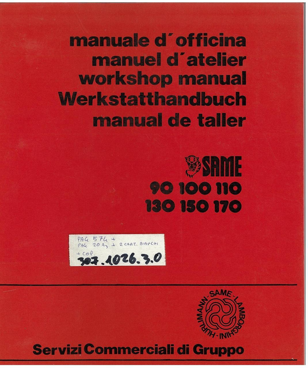LASER 90-100-110-130-150 - GALAXY 170 - Workshop manual