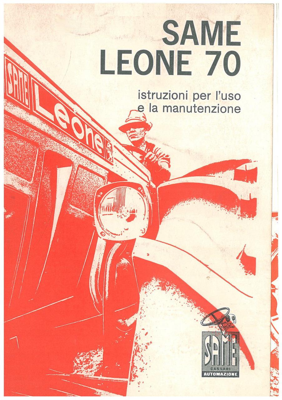 LEONE 70 - Libretto uso & manutenzione