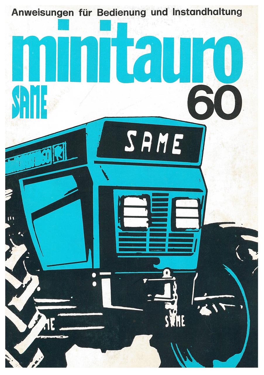 MINITAURO 60 - Bedienung und Wartung