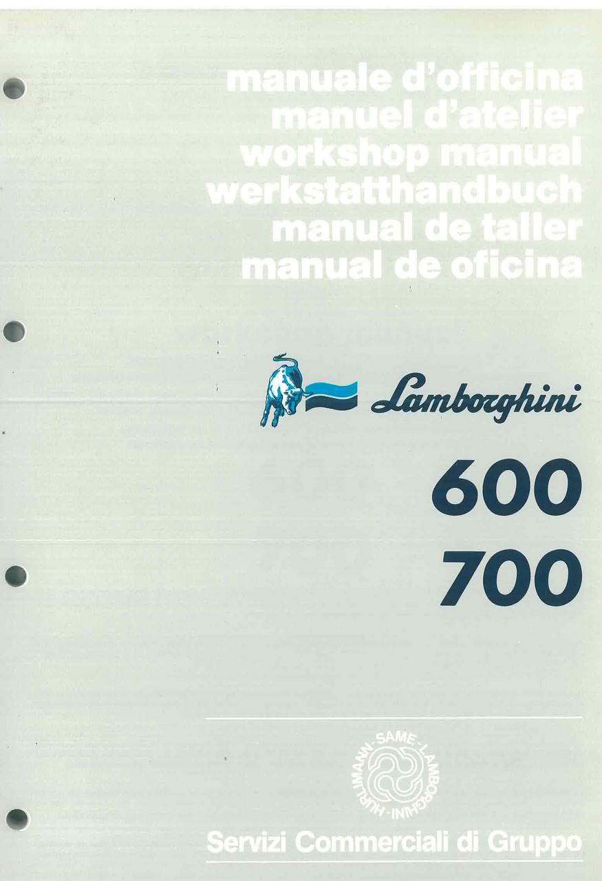 600 - 700 - Workshop Manual