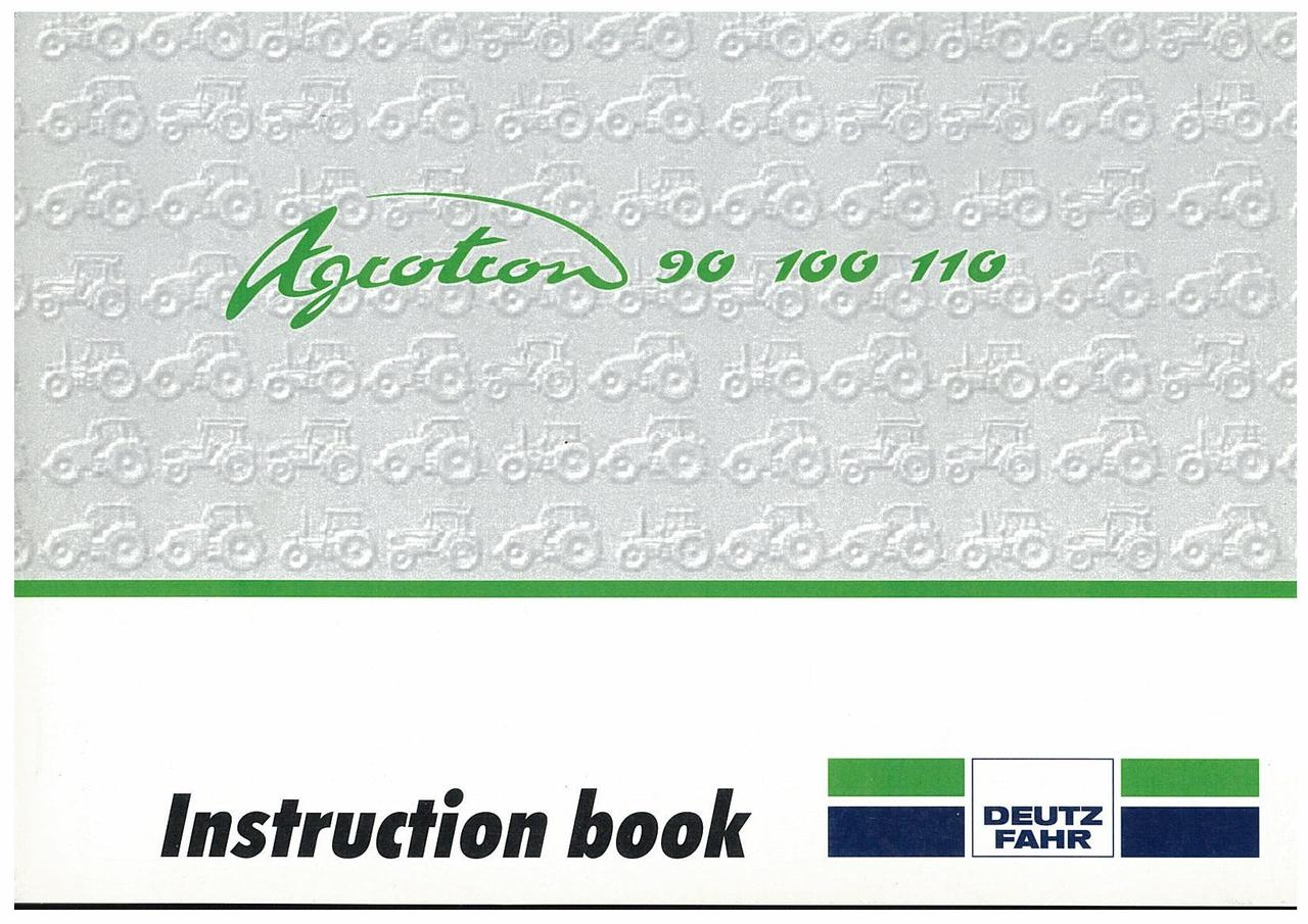 AGROTRON 90-100-110 - Operating and Maintenance