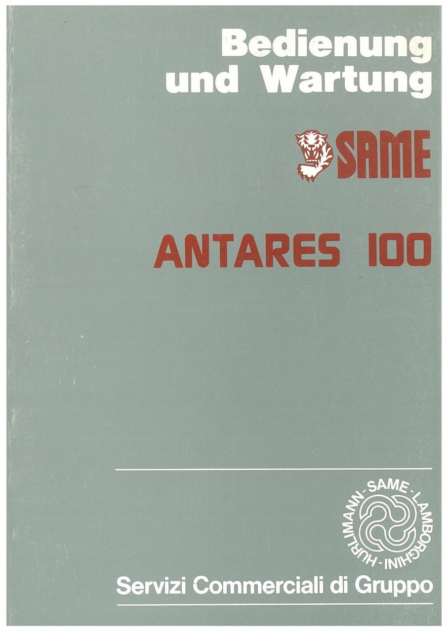 ANTARES 100 - Bedienung und wartung