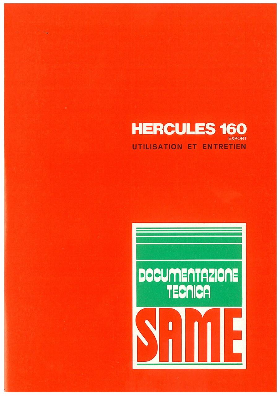 HERCULES 160 EXPORT - Utilisation et entretien