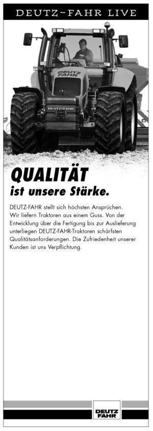 DEUTZ-FAHR LIVE, Qualität ist unsere Stärke.