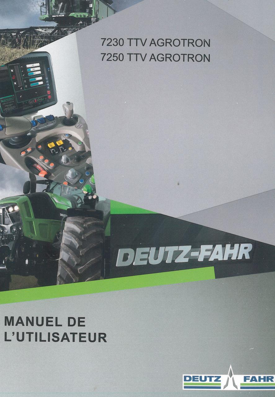7230 TTV AGROTRON - 7250 TTV AGROTRON - Manuel de l'utilisateur