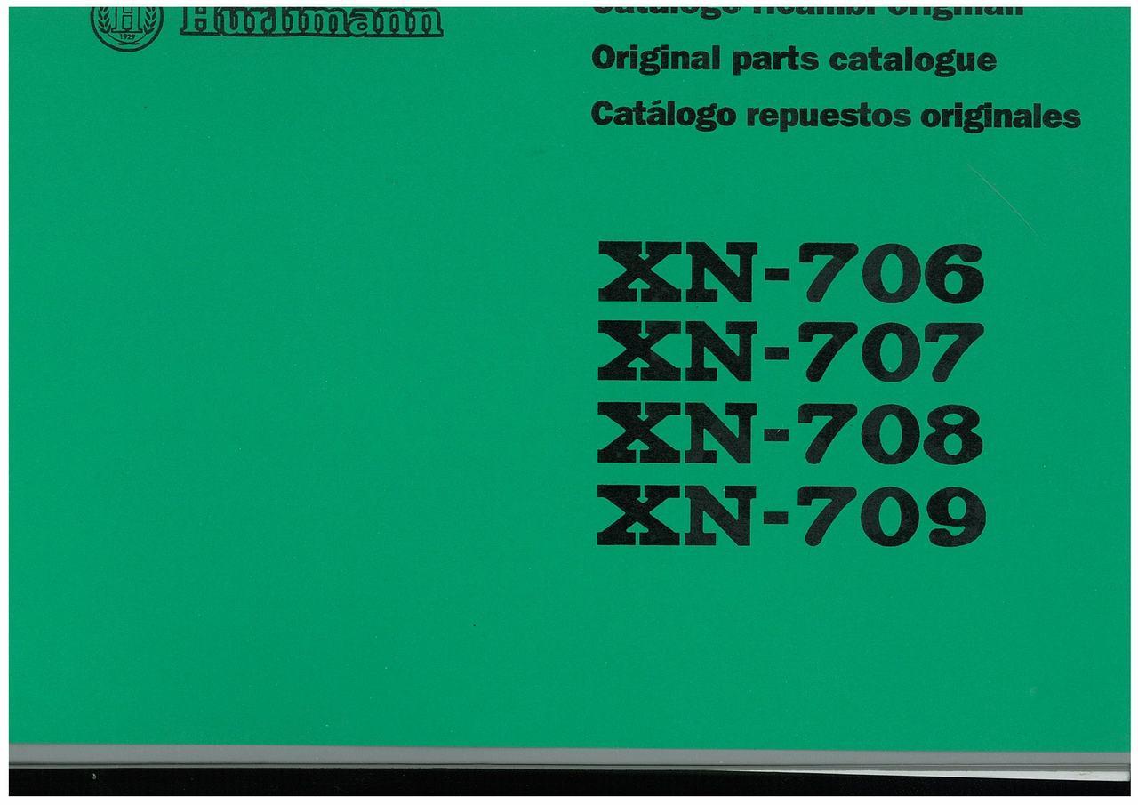 XN 706 - 707 - 708 - 709 - Catalogo Parti di Ricambio / Spare Parts Catalogue / Catàlogo Piezes de Repuesto