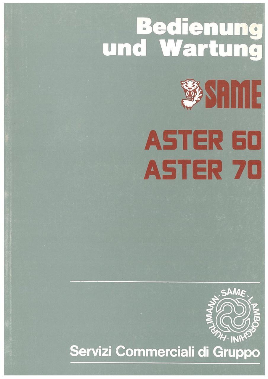 ASTER 60 - 70 - Bedienung und wartung