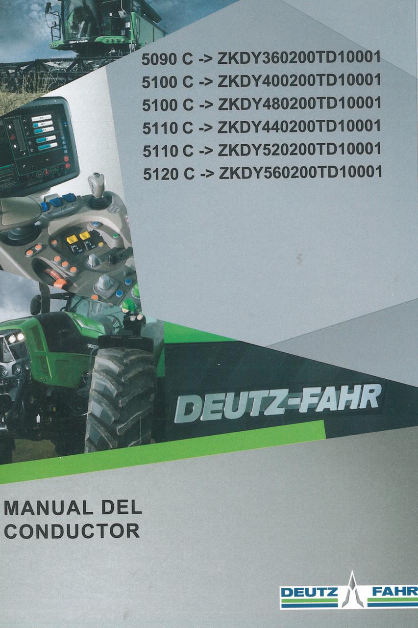 5090 C ->ZKDY360200TD10001 - 5100 C ->ZKDY400200TD10001 - 5100 C ->ZKDY480200TD10001 - 5110 C ->ZKDY440200TD10001 - 5110 C ->ZKDY520200TD10001 - 5120 C ->ZKDY560200TD10001 - Manual del conductor
