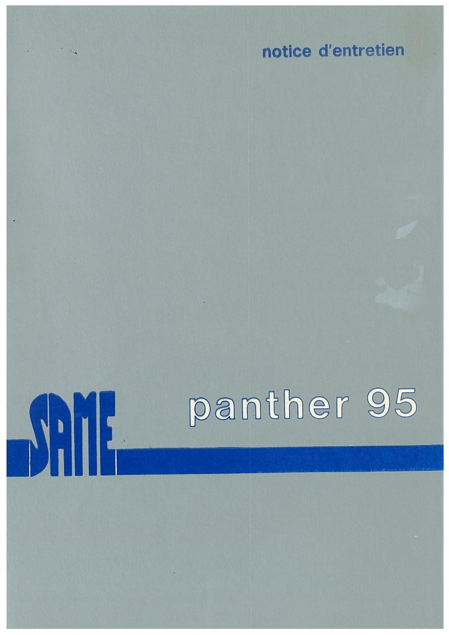 PANTHER 95 - Utilisation et entretien