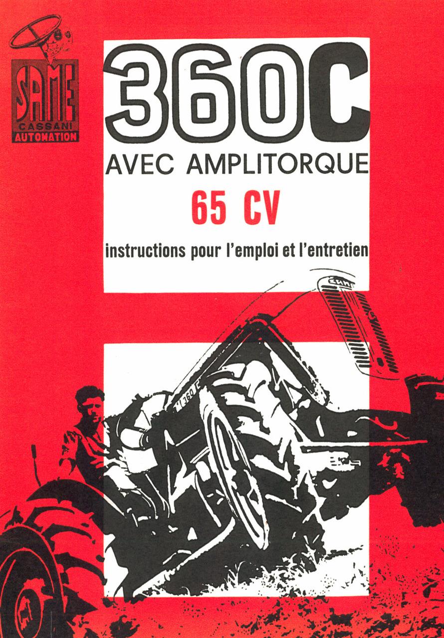 360 C - Instructions pour l'emploi et l'entretien