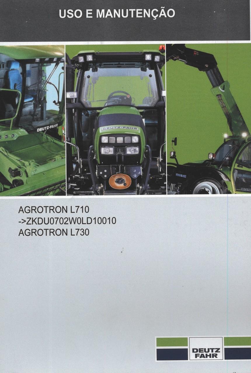 AGROTRON L710 -> ZKDU0702W0LD10010 - AGROTRON L730 - Utilização e manutenção