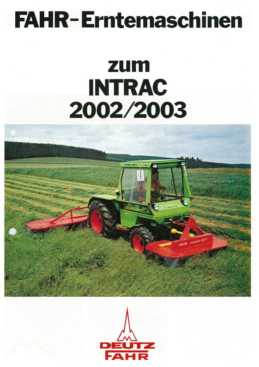 FAHR-ERNTEMASCHINEN ZUM INTRAC 2002 - 2003