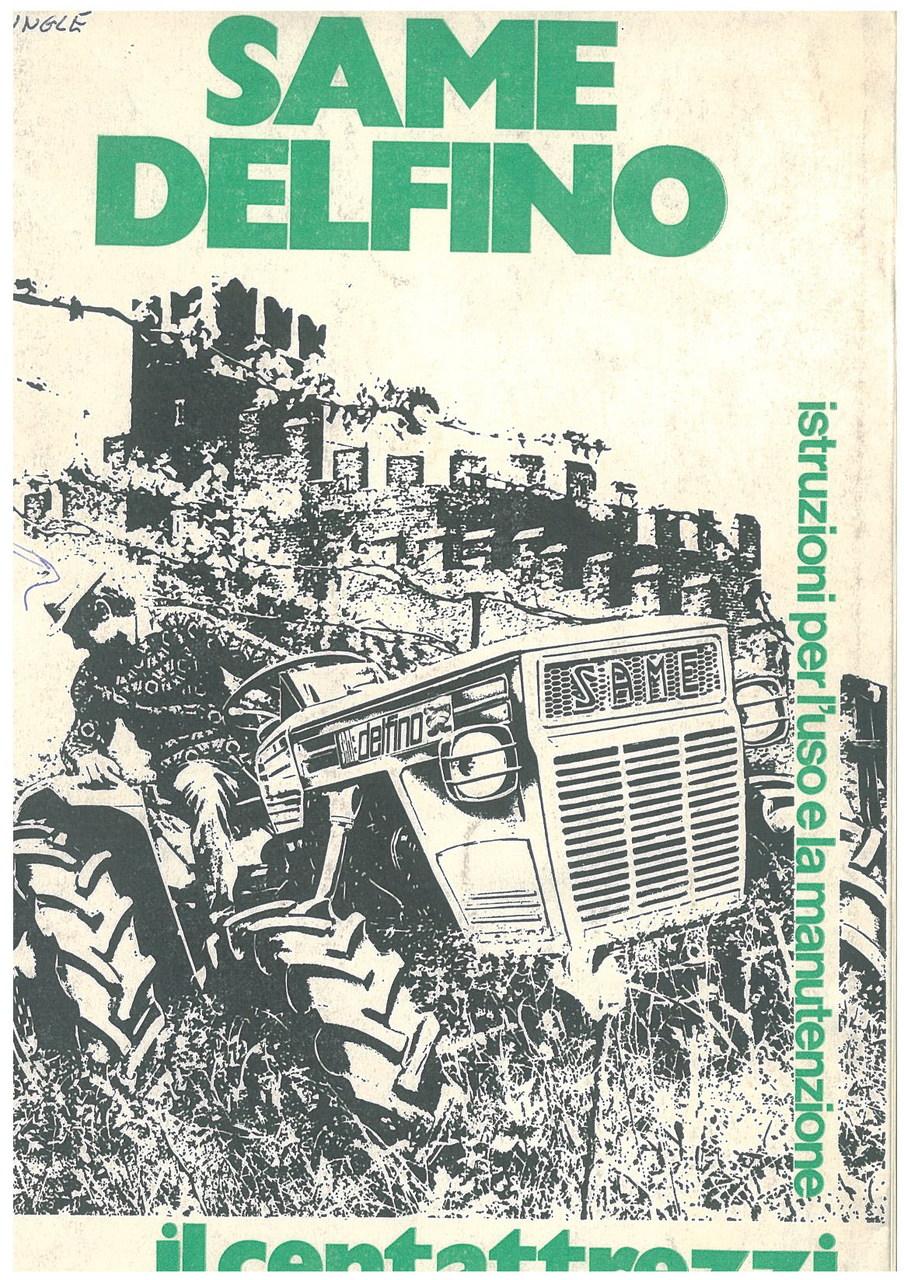 SAME DELFINO - Libretti uso & manutenzione