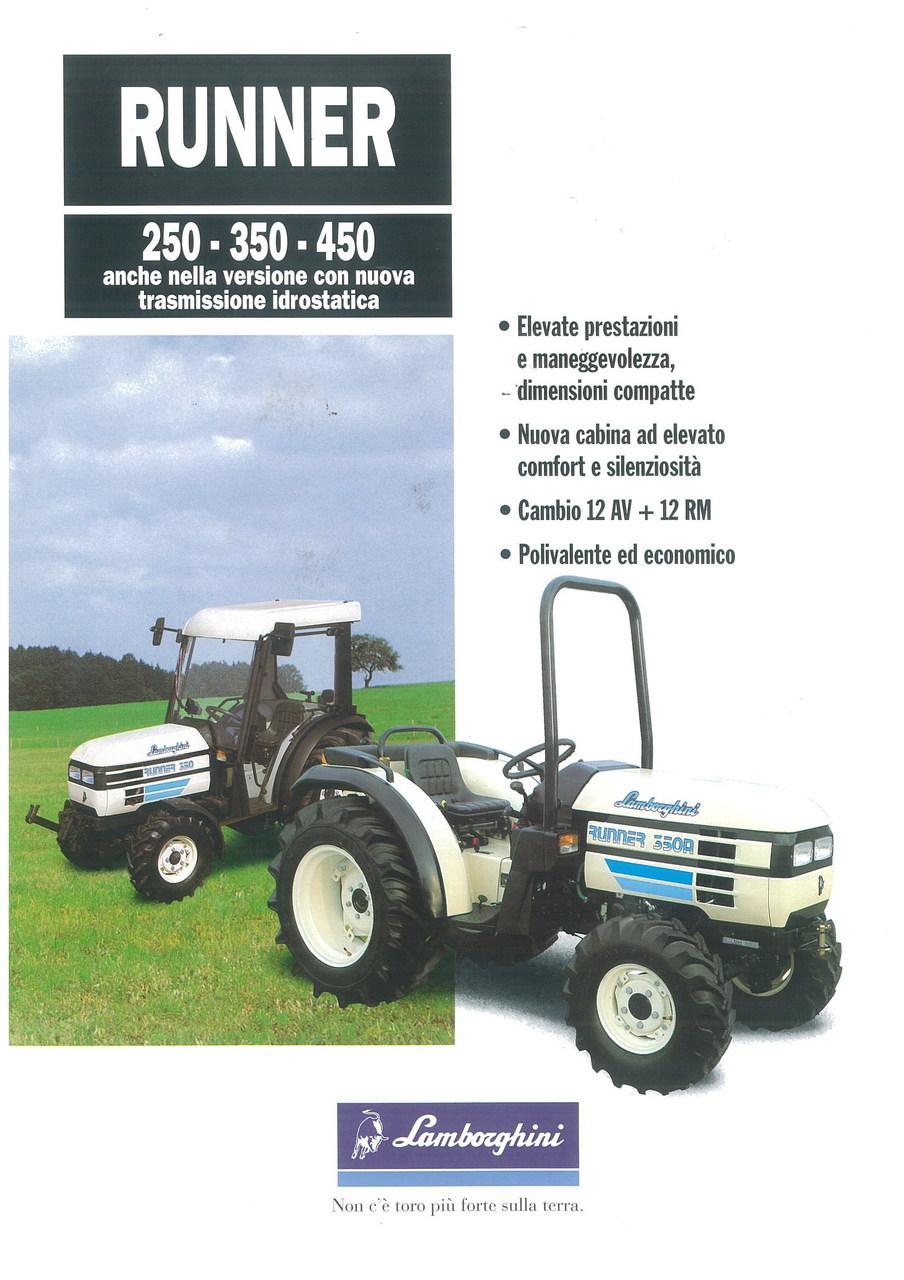 RUNNER 250 - 350 - 450 Anche nella versione con nuova trasmissione idrostatica