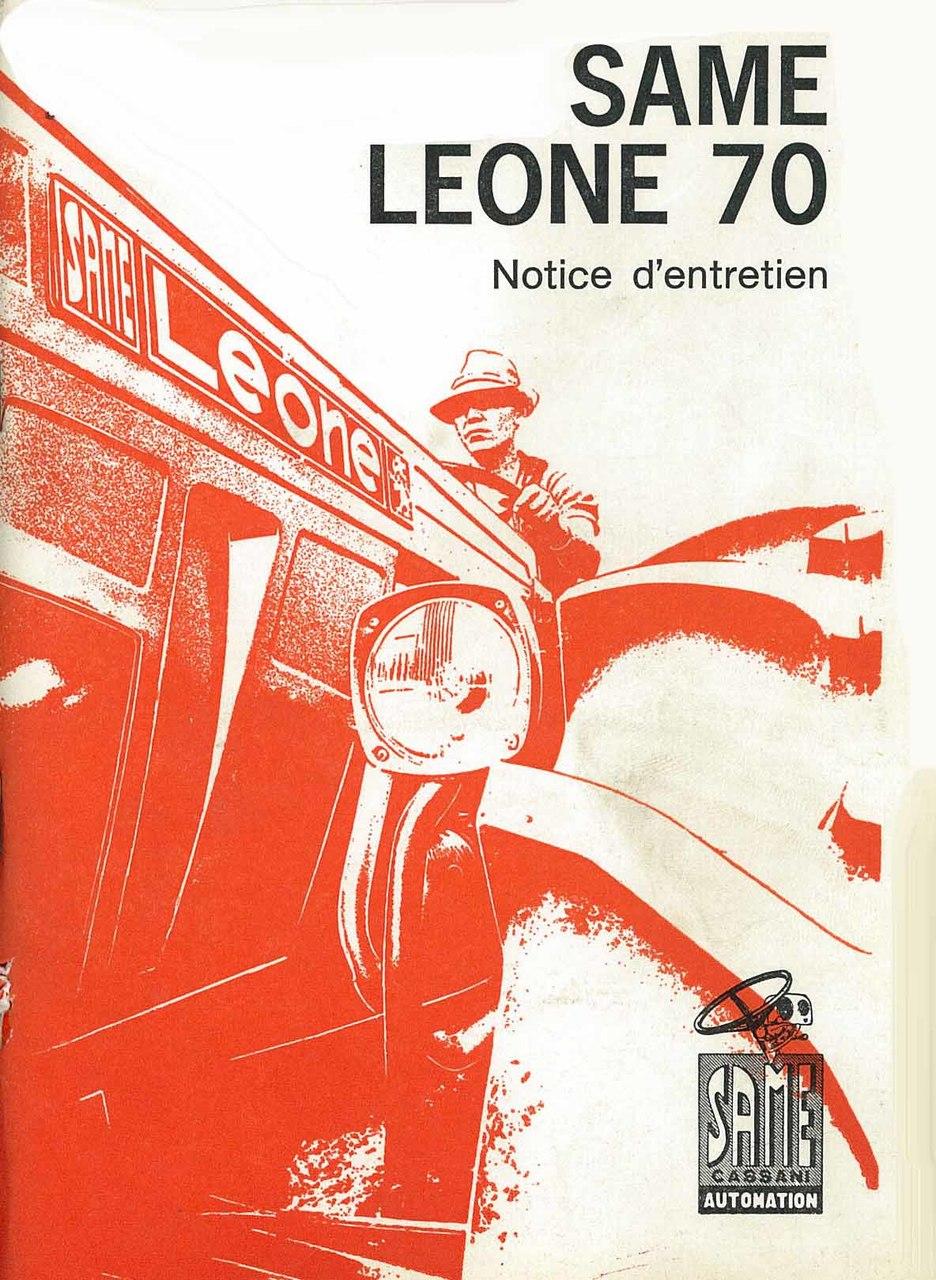 LEONE 70 - Utilisation et entretien