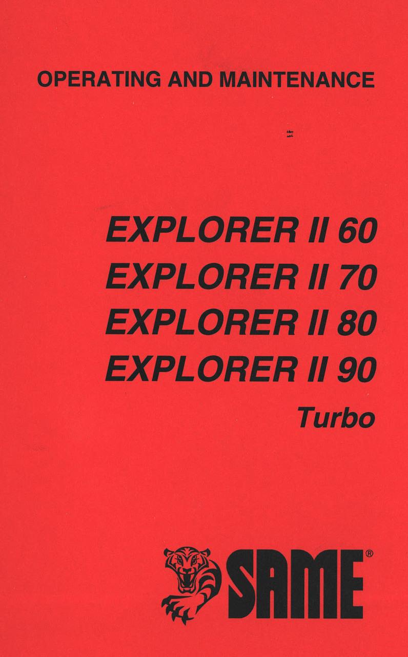 EXPLORER II 60 - EXPLORER II 70 - EXPLORER II 80 - EXPLORER II 90 TURBO - Operating and maintenance