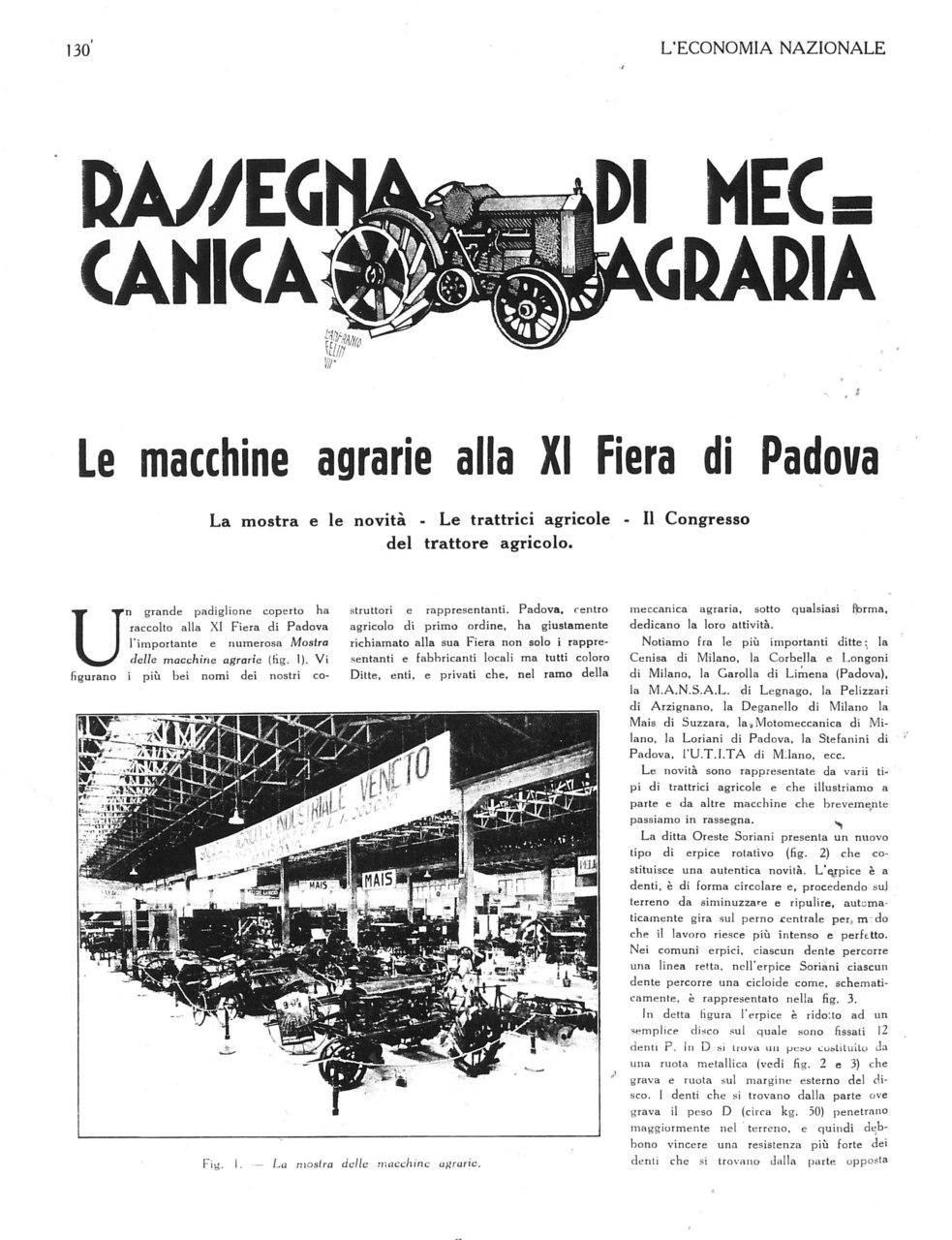 Le macchine agrarie alla XI Fiera di Padova
