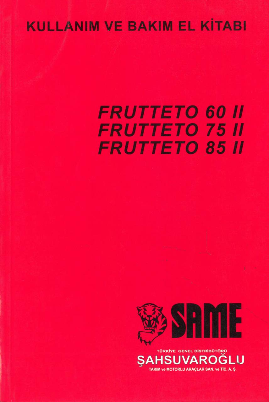 FRUTTETO 60 II - 75 II - 85 II - Kullanim ve bakim el kitabi