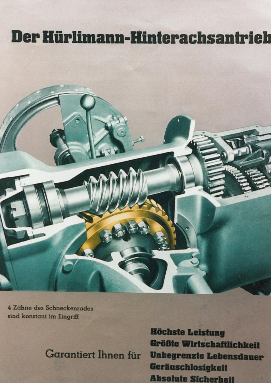 Catalogo pubblicitario relativo alla trazione posteriore dei trattori Hürlimann