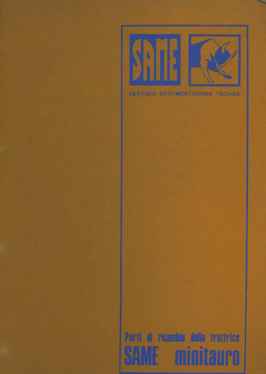 MINITAURO - Catalogo ricambi originali / Catalogue pièces d'origine / Original parts catalogue / Original Ersatzteilkatalog / Catálogo repuestos originales