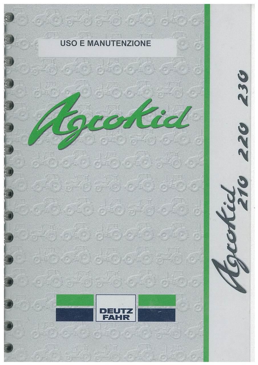 AGROKID 210 - 220 - 230 - Uso e manutenzione